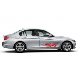 Лого BMW в пламъци