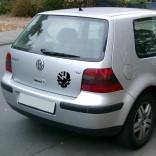 VW стикер с череп