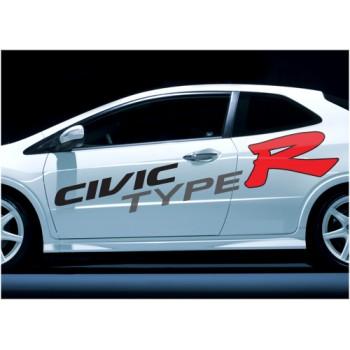 Лого Honda Civic Type R - голямо