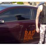 Надпис Bad Girl