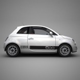 Баркод стикери Fiat 500