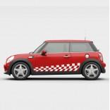 Класически рейсинг стикери за Mini Cooper