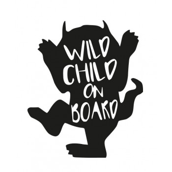 Стикер - Wild child on the board